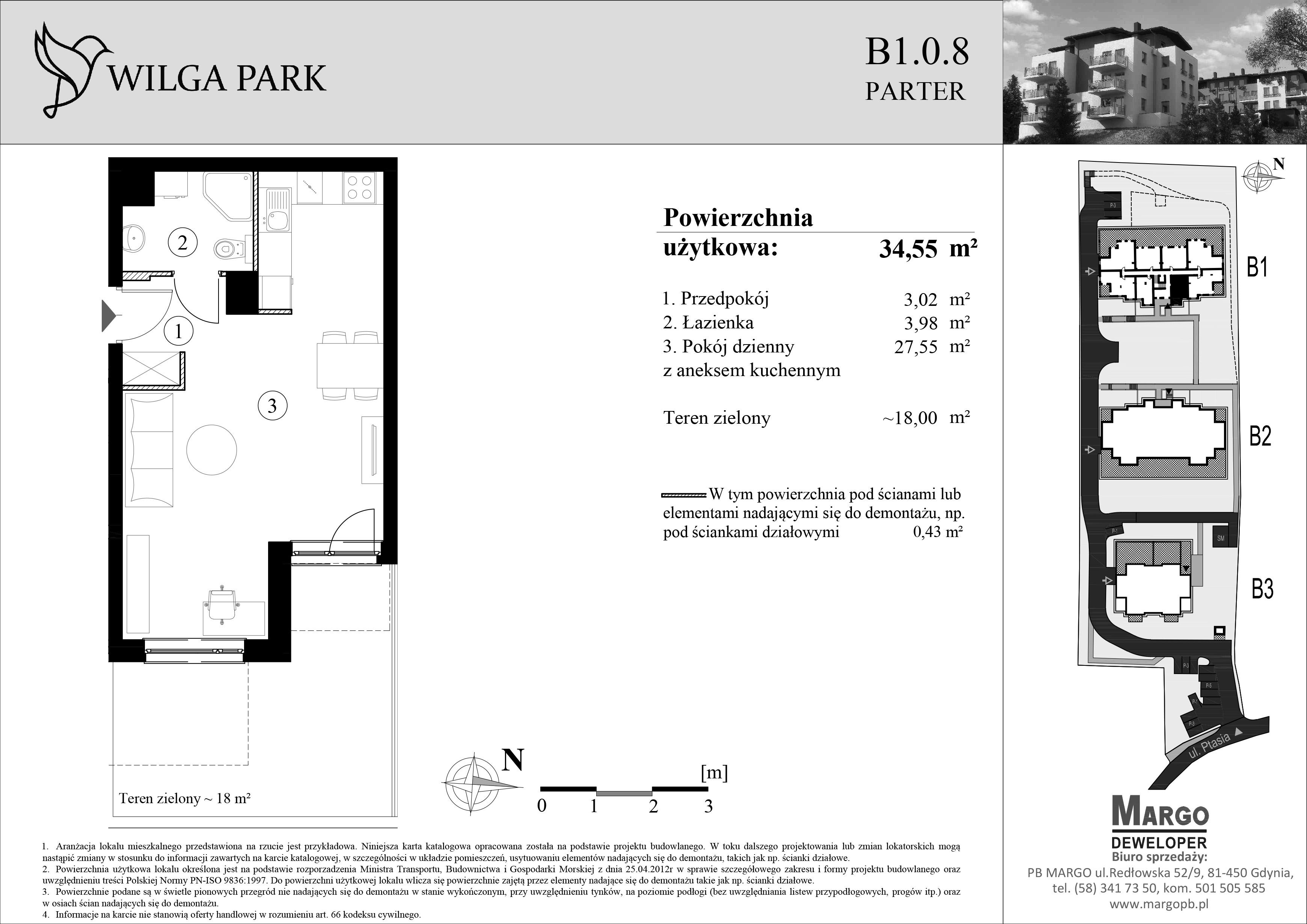ul. Ptasia 14 Gdańsk, mieszkanie 34,55 m