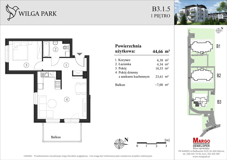 mieszkanie b 3 1 5 Wilga Park