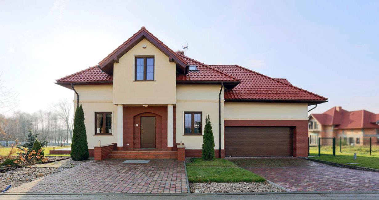 dom modelowy front Pępowo Osiedle Gdańskie